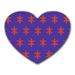 Flower Floral Different Colours Purple Orange Heart Mousepads by Alisyart