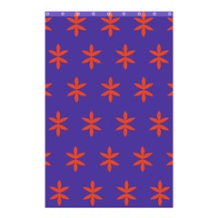 Flower Floral Different Colours Purple Orange Shower Curtain 48  X 72  (small)  by Alisyart