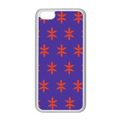 Flower Floral Different Colours Purple Orange Apple Iphone 5c Seamless Case (white) by Alisyart