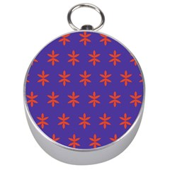 Flower Floral Different Colours Purple Orange Silver Compasses by Alisyart
