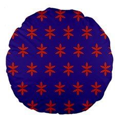 Flower Floral Different Colours Purple Orange Large 18  Premium Flano Round Cushions by Alisyart