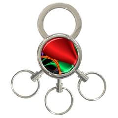 Fractal Construction 3 Ring Key Chains by Simbadda