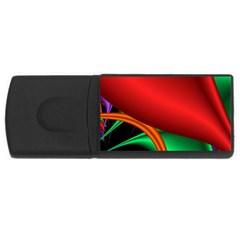 Fractal Construction Usb Flash Drive Rectangular (4 Gb) by Simbadda