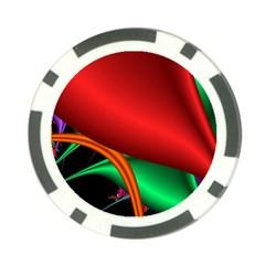 Fractal Construction Poker Chip Card Guard (10 Pack) by Simbadda