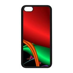 Fractal Construction Apple Iphone 5c Seamless Case (black) by Simbadda