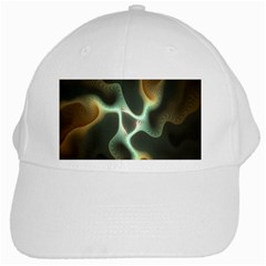 Colorful Fractal Background White Cap by Simbadda