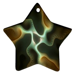 Colorful Fractal Background Ornament (star) by Simbadda