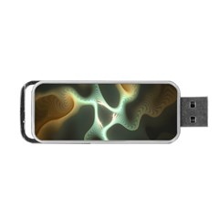 Colorful Fractal Background Portable Usb Flash (one Side) by Simbadda