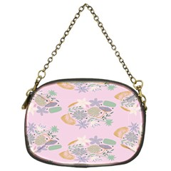 Floral Flower Rose Sunflower Star Leaf Pink Green Blue Chain Purses (one Side)  by Alisyart