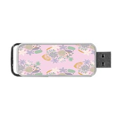Floral Flower Rose Sunflower Star Leaf Pink Green Blue Portable Usb Flash (two Sides) by Alisyart