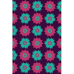 Flower Floral Rose Sunflower Purple Blue 5 5  X 8 5  Notebooks by Alisyart