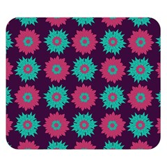 Flower Floral Rose Sunflower Purple Blue Double Sided Flano Blanket (small)  by Alisyart