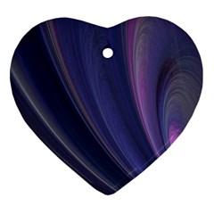 Purple Fractal Ornament (heart) by Simbadda