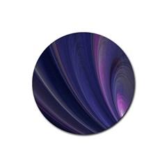 Purple Fractal Rubber Coaster (round)  by Simbadda