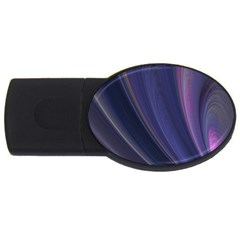 Purple Fractal Usb Flash Drive Oval (4 Gb) by Simbadda