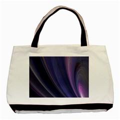 Purple Fractal Basic Tote Bag by Simbadda