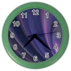Purple Fractal Color Wall Clocks by Simbadda