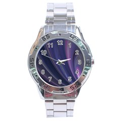 Purple Fractal Stainless Steel Analogue Watch by Simbadda