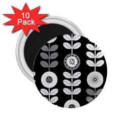 Floral Pattern Seamless Background 2 25  Magnets (10 Pack)