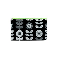 Floral Pattern Seamless Background Cosmetic Bag (xs) by Simbadda