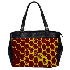 Network Grid Pattern Background Structure Yellow Office Handbags by Simbadda