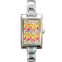 Abstract Pattern Colorful Wallpaper Rectangle Italian Charm Watch by Simbadda