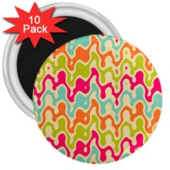 Abstract Pattern Colorful Wallpaper 3  Magnets (10 Pack)  by Simbadda