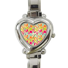 Abstract Pattern Colorful Wallpaper Heart Italian Charm Watch by Simbadda