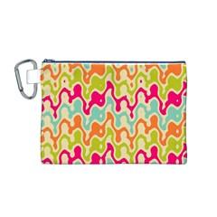 Abstract Pattern Colorful Wallpaper Canvas Cosmetic Bag (m) by Simbadda