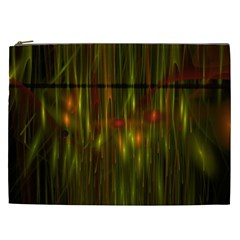 Fractal Rain Cosmetic Bag (xxl)  by Simbadda