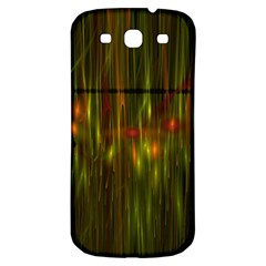 Fractal Rain Samsung Galaxy S3 S Iii Classic Hardshell Back Case by Simbadda