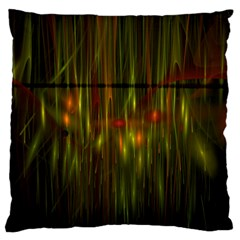 Fractal Rain Standard Flano Cushion Case (one Side) by Simbadda