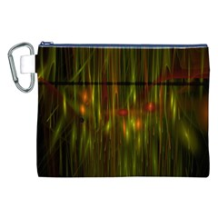 Fractal Rain Canvas Cosmetic Bag (xxl) by Simbadda