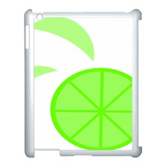 Fruit Lime Green Apple Ipad 3/4 Case (white) by Alisyart