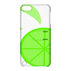Fruit Lime Green Apple Ipod Touch 5 Hardshell Case With Stand by Alisyart