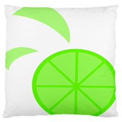 Fruit Lime Green Standard Flano Cushion Case (one Side) by Alisyart