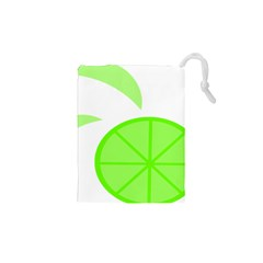 Fruit Lime Green Drawstring Pouches (xs)  by Alisyart
