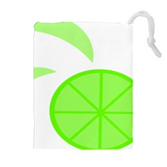 Fruit Lime Green Drawstring Pouches (extra Large) by Alisyart