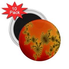 Decorative Fractal Spiral 2 25  Magnets (10 Pack)