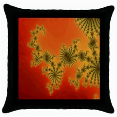 Decorative Fractal Spiral Throw Pillow Case (black) by Simbadda