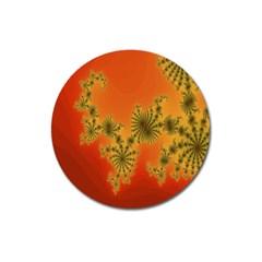 Decorative Fractal Spiral Magnet 3  (round) by Simbadda