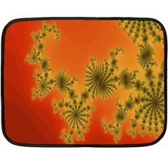 Decorative Fractal Spiral Fleece Blanket (mini) by Simbadda