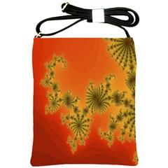Decorative Fractal Spiral Shoulder Sling Bags by Simbadda