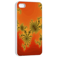 Decorative Fractal Spiral Apple Iphone 4/4s Seamless Case (white) by Simbadda
