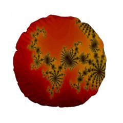 Decorative Fractal Spiral Standard 15  Premium Flano Round Cushions by Simbadda