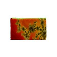 Decorative Fractal Spiral Cosmetic Bag (xs) by Simbadda