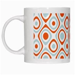 Pattern Background Abstract White Mugs by Simbadda