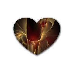 Fractal Image Rubber Coaster (heart)  by Simbadda