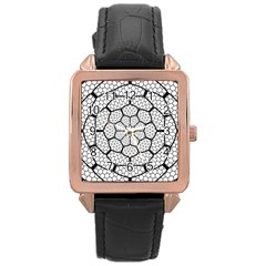 Grillage Rose Gold Leather Watch