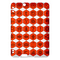 Icon Library Web Icons Internet Social Networks Kindle Fire Hdx Hardshell Case by Simbadda